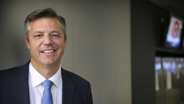 Seven West Media chief executive James Warburton.