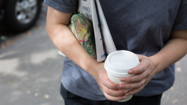 Takeaway coffee cups have become a symbol of 'cool'.