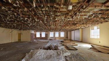 The derelict floors above Target.