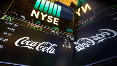 Coca-Cola's outlook helped boost the US sharemarket.