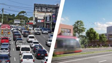 Parramatta Road. Photo Now and revitalisation proposal.