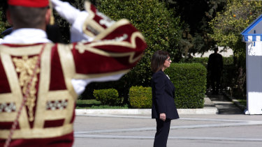 Katerina Sakellaropoulou, a 63-year-old senior judge, becomes the new Greek head of state.