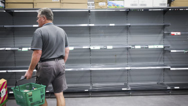 Coronavirus panic buying last month emptied supermarket shelves.