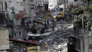 Israeli authorities destroy shops in the refugee camp of Shuafat in Jerusalem. US President Donald Trump's recognition of Jerusalem has set off an increasingly visible battle in the city's eastern sector - with an emboldened Israel seeking to cement its control over the contested area and Palestinians pushing back to maintain their limited foothold.