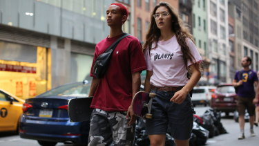 Camille (Rachelle Vinberg) with her crush (Jaden Smith).