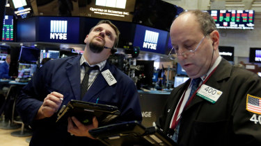 Wall Street fell late in the day to finish well down.