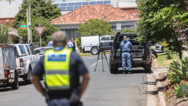 Homicide Squad detectives are on the scene in Salisbury Street, Yarraville.