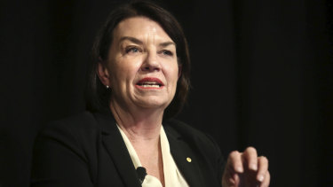 Anna Bligh (pictured at ASIC annual forum last week) says small businesses are in some of the best economic conditions for borrowing.