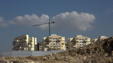 A new housing project in the West Bank settlement of Modiin Ilit.