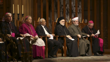 The interfaith service at St Mary's Cathedral in Sydney.