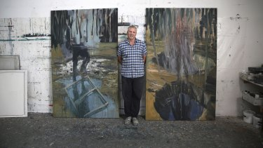 'They spin you out' Dobell winner Euan Macleod in his Haberfield studio.