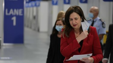 Ms Palaszczuk believes Queensland has ticked over the 60 per cent for first doses.