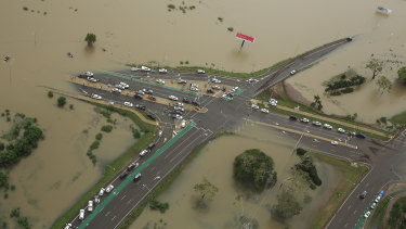 The Townsville floods cut off roads and inundated homes. (File Image)