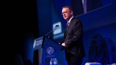 Woodside chief executive Peter Coleman at the APPEA conference in Brisbane.