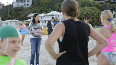 Premier Annastacia Palaszczuk campaigning in Currumbin on October 19.