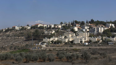 Part of the Israeli settlement of Beit El, near the West Bank city of Ramallah.
