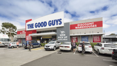 Sales at The Good Guys grew 0.6 per cent, well ahead of analyst expectations.