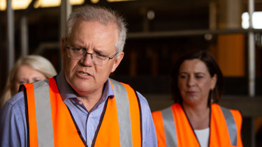 PM Scott Morrison joins LNP leader Deb Frecklington on the hustings for the first time last Saturday.