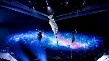 Kate Miller-Heidke on stage at Expo Tel Aviv.