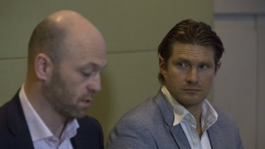 Alistair Nicholson and Shane Watson from the Australian Cricketers Association.