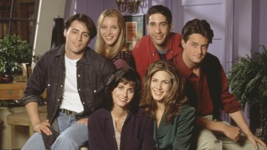 The way we were ... the cast of Friends as they appeared in the original series.