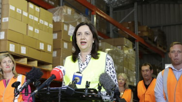 Premier Annastacia Palaszczuk campaigning on the Gold Coast earlier this week.