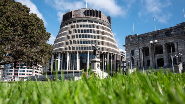 The New Zealand Parliament buildings in Wellington. The country became the envy of the world earlier this year when it succeeded in eliminating community transmission of the coronavirus.