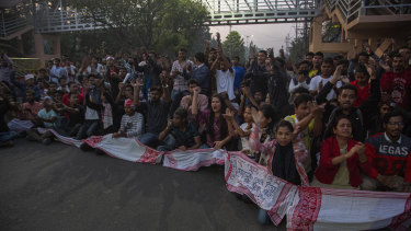 Thousands protested in Assam state against legislation that would grant citizenship to non-Muslims who migrated from neighbouring countries.