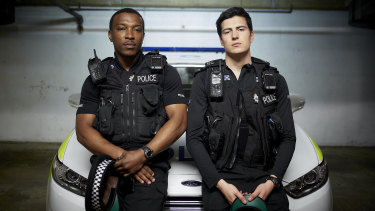 Ashley Walters and Jacob Ifan play two police officers with complicated personal lives in Cuffs.