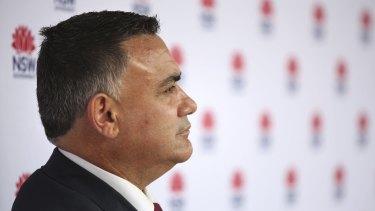 NSW Deputy Premier John Barilaro is backing a council demerger.