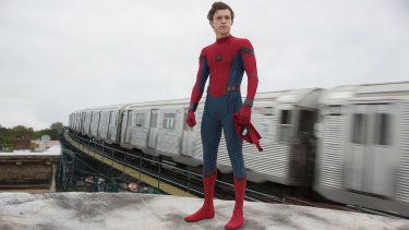 Caught in a Marvel and Sony stand-off: Tom Holland as the comic book hero Spider-Man.