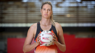 Sydney Giants Goal Shooter Caitlin Bassett at Olympic Park, Homebush.