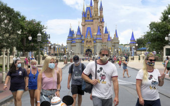 With COVID cases on the rise, cancellations have also been mounting at the Magic Kingdom at Walt Disney World in Florida.