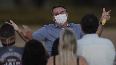 Brazil's President Jair Bolsonaro contracted the virus last month.