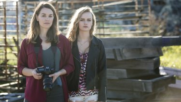 Claire (Laura Gordon) and Angie (Olivia Dejonge) are drawn to each other in the Australian thriller Undertow.