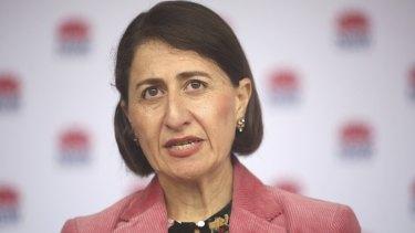 NSW Premier Gladys Berejiklian announces new restrictions on Sunday.