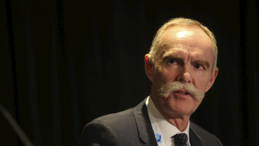 "AustralianSuper chief executive Ian Silk said he had expected the royal commission's impact on fund flows would be a ""blip,"" but it was still having a big effect."