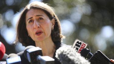 Gladys Berejiklian talks about the Wagga byelection on Sunday morning.