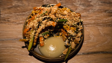 Vegetable Achar, Peanut and Apple at Restaurant Scully St James's
