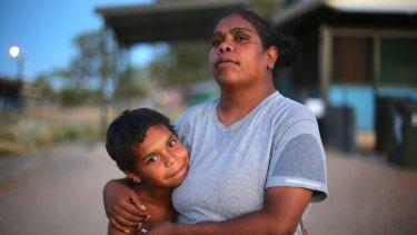 Dujuan Hoosan and his mother Megan.