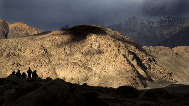 The treacherous terrain of the Ladakh region.
