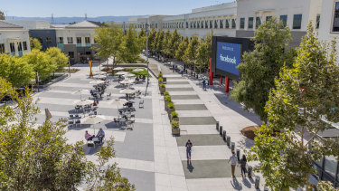 Facebook's massive Menlo Park campus is now mostly empty.