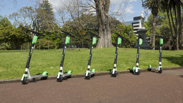 US company Lime has rolled out its electric scooters in Brisbane after a temporary permit for a trial was granted so users do not get fined.