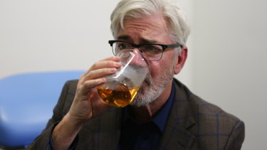 A binge drinker in his youth, Shaun Micallef is now a teetotaller.