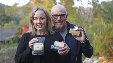 Kirsten Williams and Mark Denning, founders of Pod Star reusuable coffee pods brand.