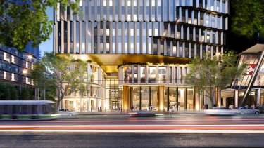 The planned tower at 555 Collins Street.