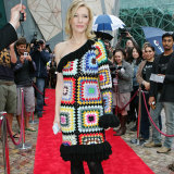 """Cate Blanchett in the """"Blanket Dress"""" from 2009's """"Doilies and Pearls, Oysters and Shells"""" collection."""