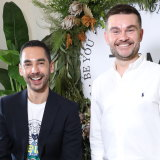 Ewan Belsey and Tony Tsianakis launched their men's make-up line in Sydney last week.