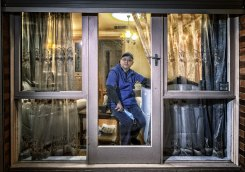 Prahran Market trader Ting Gao, owner of Periwinkle Fine Seafood, is isolating at home.
