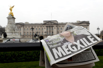 A discarded newspaper outside Buckingham Palace after the interview went to air.